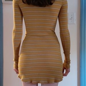 60s turtleneck mini dress